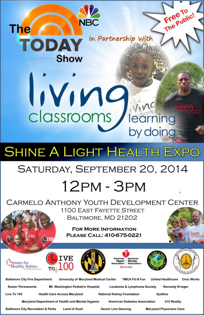Living Classrooms Foundation and NBC's The Today Show to Host Shine a Light Health Expo