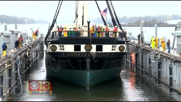 USS Constellation Undergoing Facelift