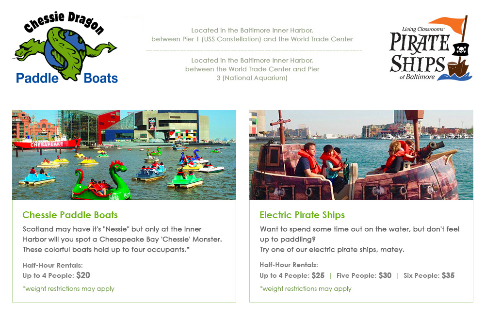 Living Classrooms | Paddle and Electric Boats - Living Classrooms